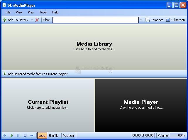 Pantallazo SE Media Player