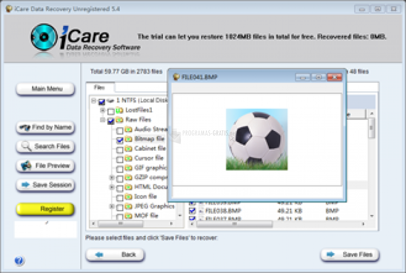Captura iCare Data Recovery Software