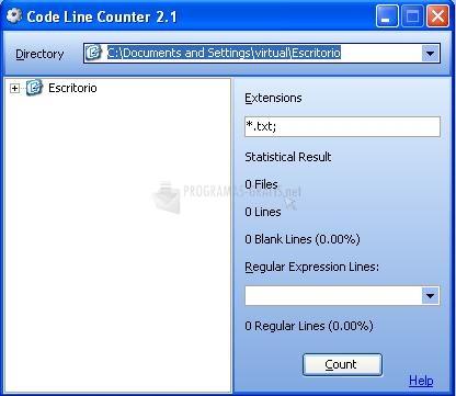 Pantallazo Code Line Counter