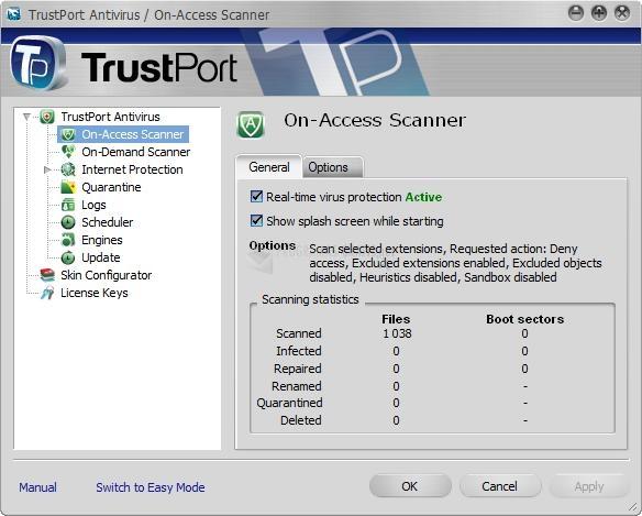 Pantallazo TrustPort Antivirus
