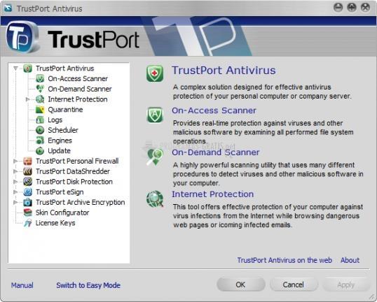 Pantallazo TrustPort PC Security