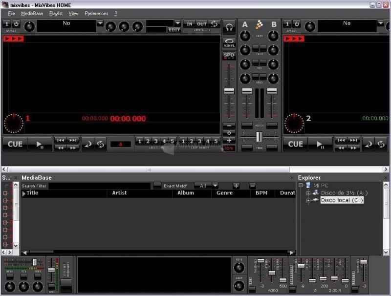 Pantallazo MixVibes Home Edition