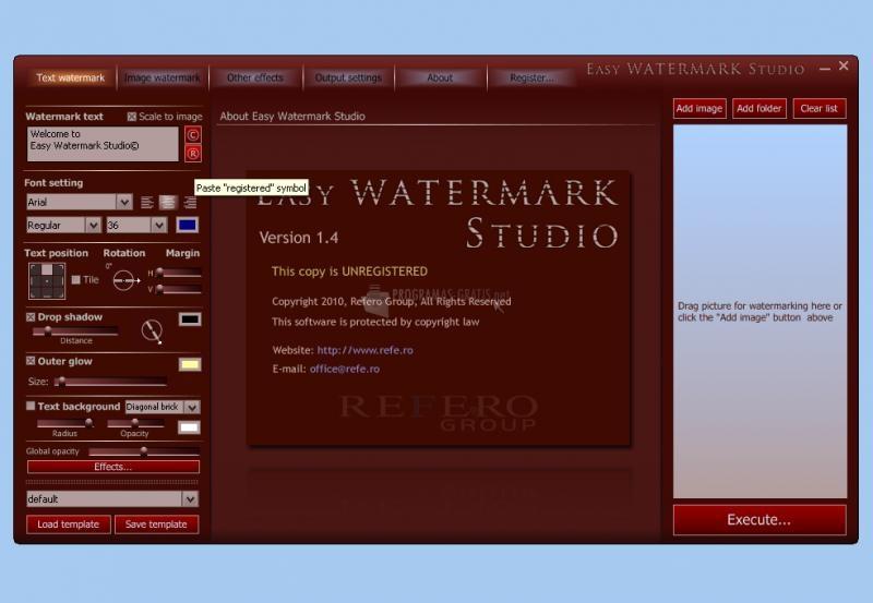 Pantallazo Easy Watermark Studio
