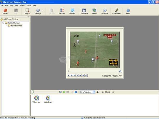 Pantallazo My Screen Recorder