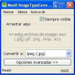 Pantallazo Image Type Converter