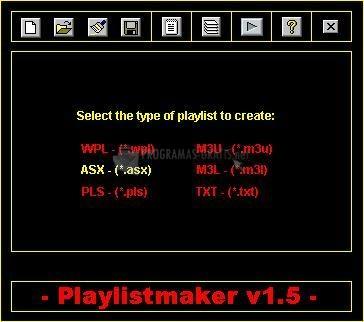 Pantallazo Playlistmaker