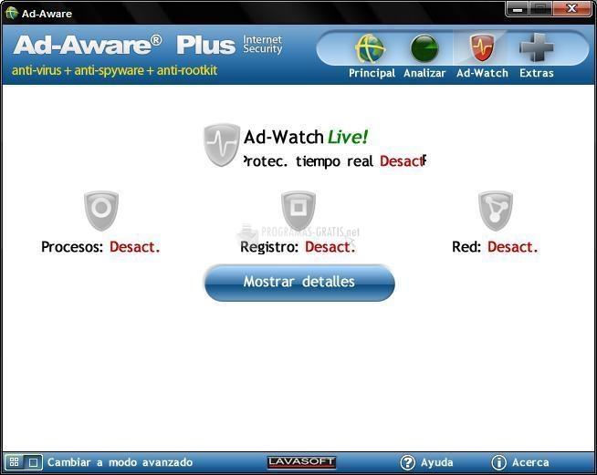 Pantallazo Ad-Aware Plus Internet Security