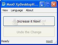 Pantallazo Moo0 XP Desktop Heap