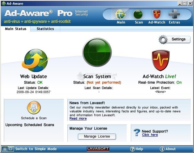 Pantallazo Ad-Aware Pro Internet Security