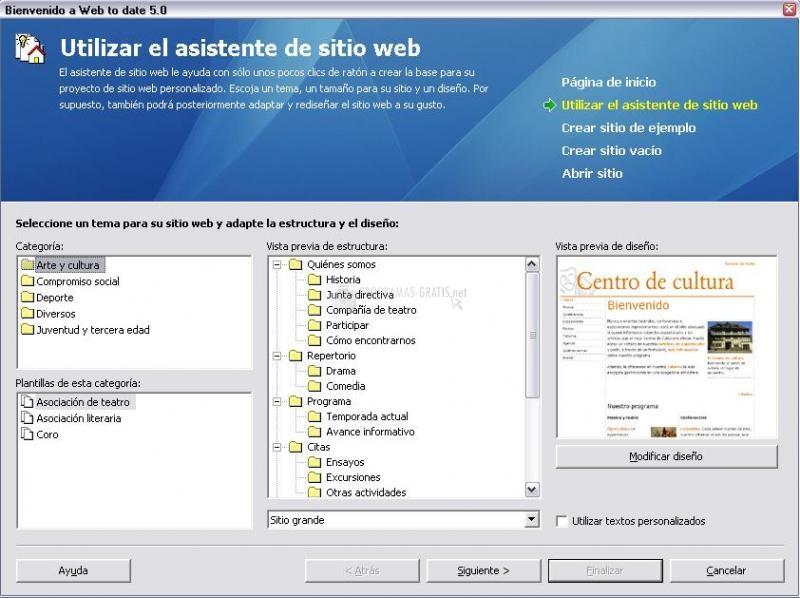 Pantallazo Mi Asociación en Internet