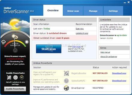 Pantallazo DriverScanner