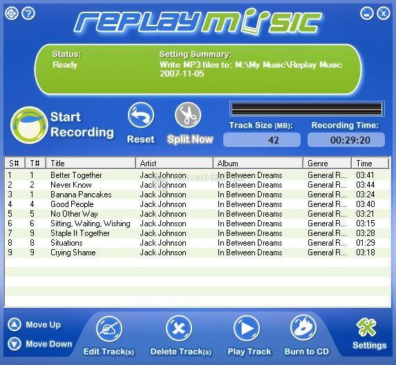 Pantallazo Replay Music
