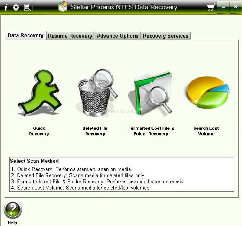 Pantallazo Stellar Phoenix NTFS