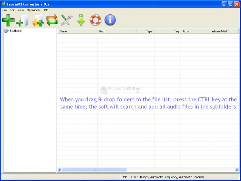 Pantallazo Free MP3 Converter