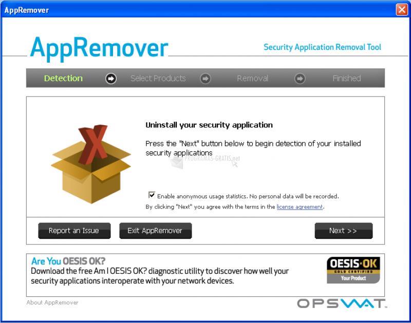 Pantallazo App Remover