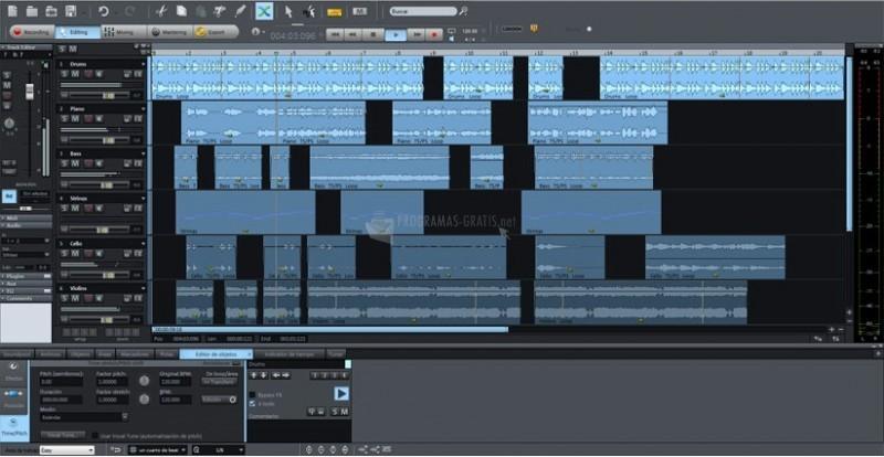 Pantallazo Samplitude Music Studio