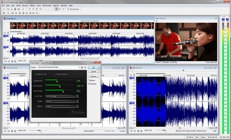 Pantallazo Sound Forge Audio Studio
