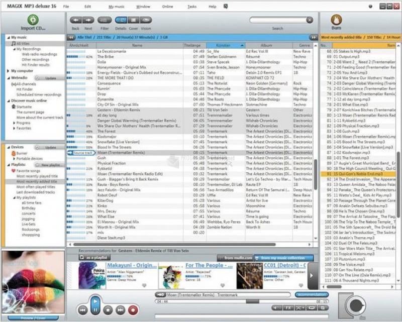 Pantallazo Magix MP3 Deluxe