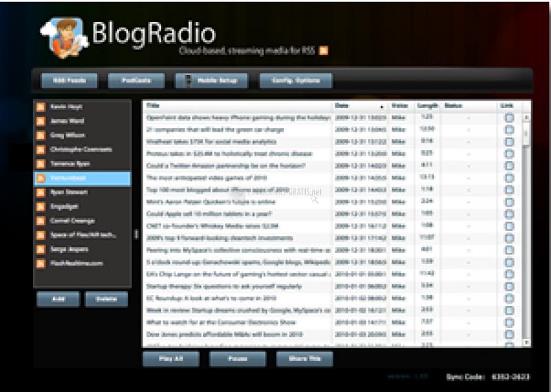 Pantallazo BlogRadio