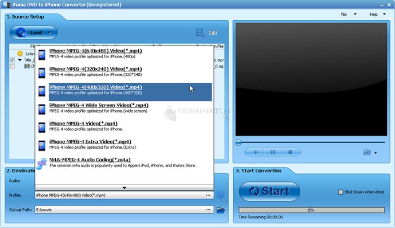 Pantallazo DVD to iPhone 4 Converter
