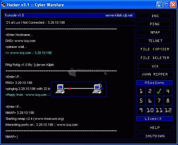 Pantallazo Hacker