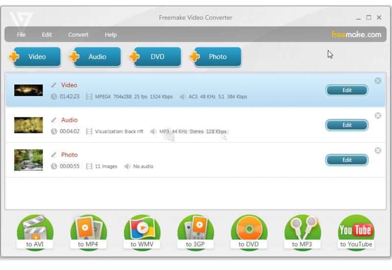 Pantallazo Freemake Video Converter