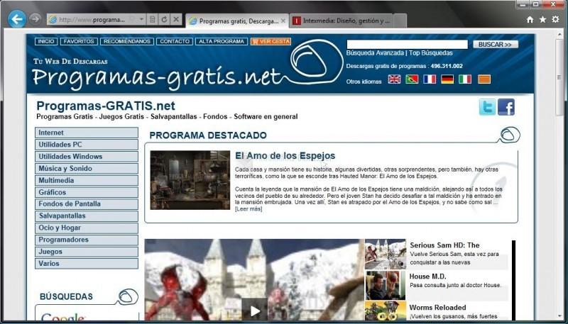 Pantallazo Internet Explorer 9