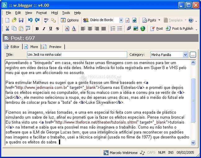 Pantallazo W.Bloggar