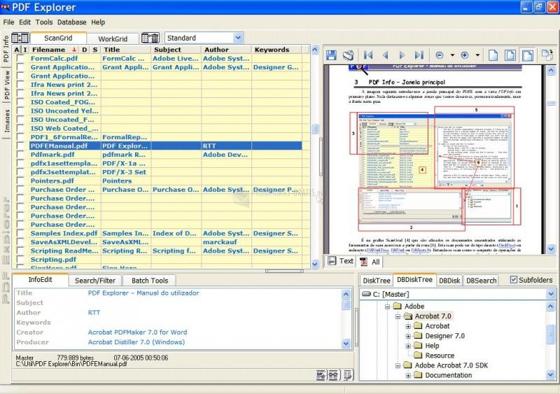 Pantallazo PDF Explorer