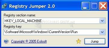 Pantallazo Registry Jumper
