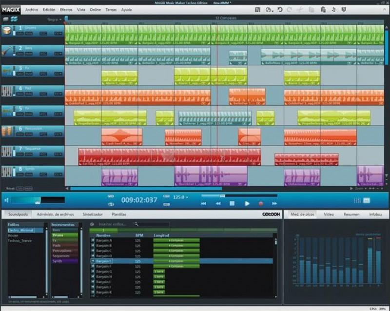 Pantallazo Magix Music Maker Techno Edition