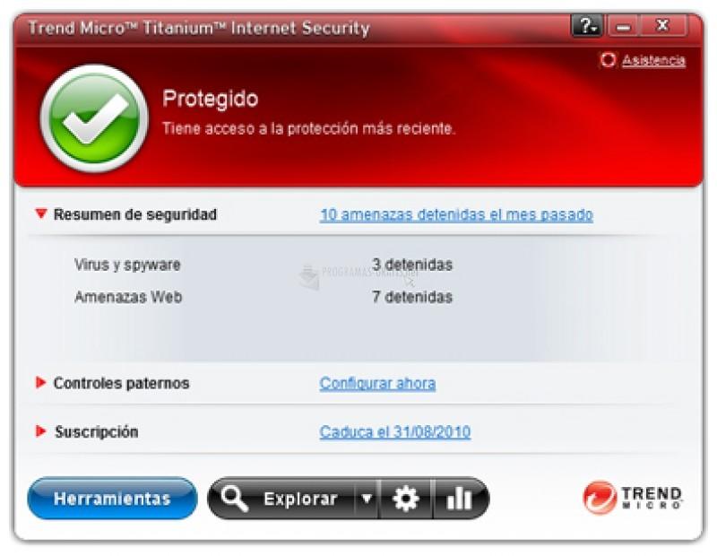 Pantallazo Titanium Internet Security