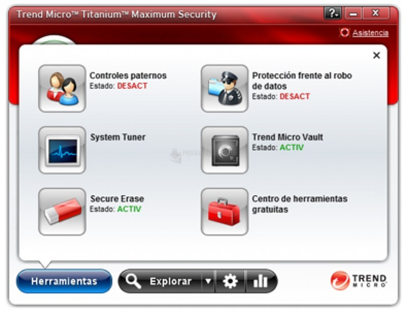 Pantallazo Titanium Maximum Security