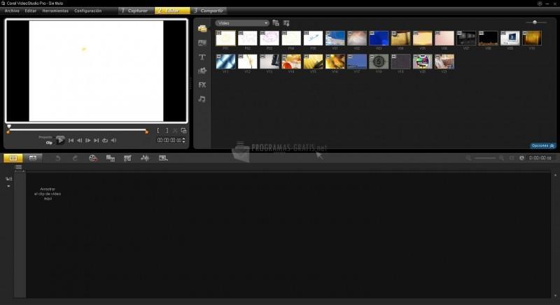 Pantallazo Corel VideoStudio Pro