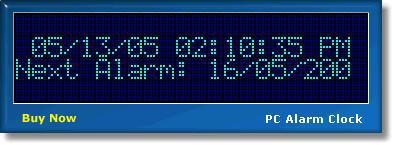Pantallazo PC Alarm Clock