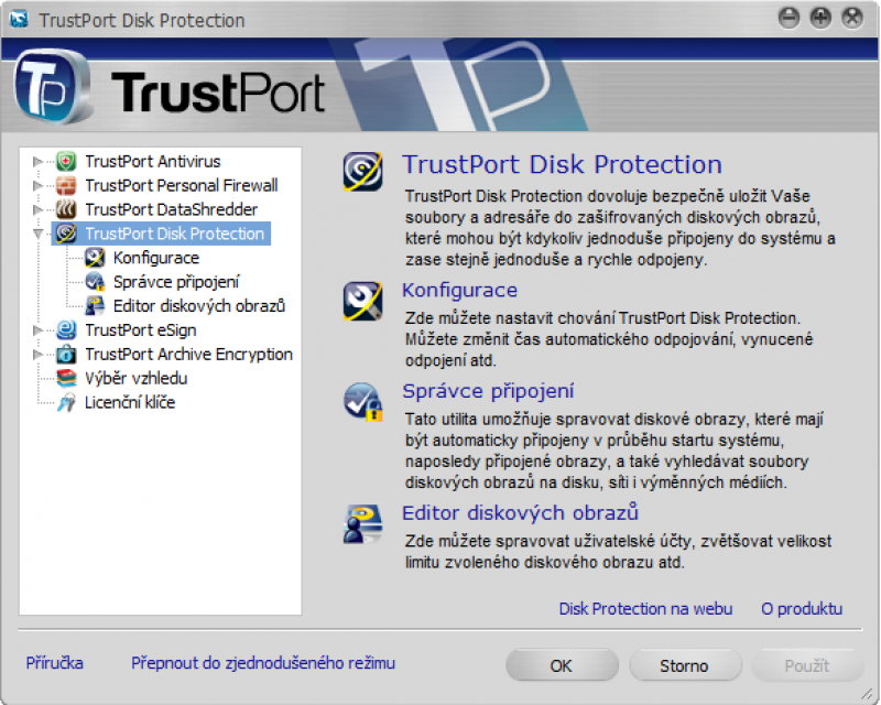 Pantallazo TrustPort Total Protection