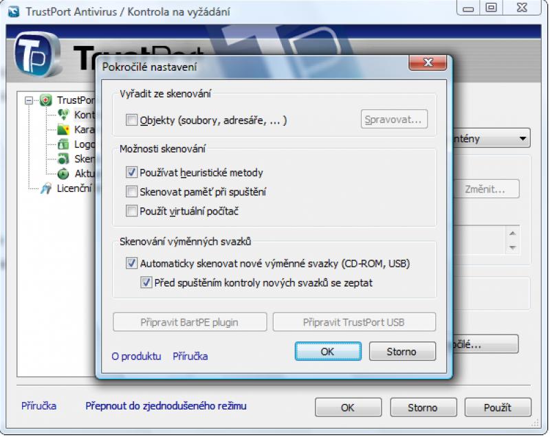 Pantallazo TrustPort USB Antivirus