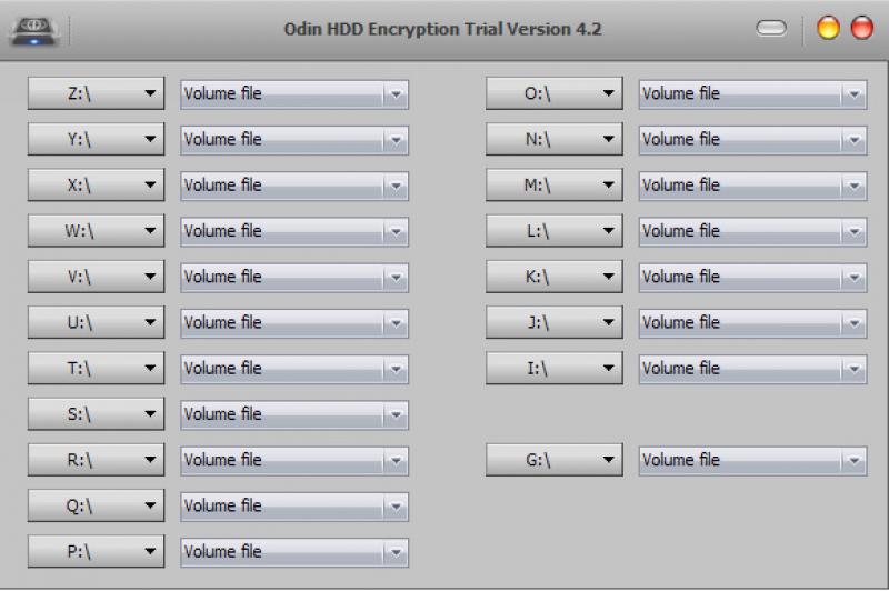 Pantallazo Odin HDD Encryption