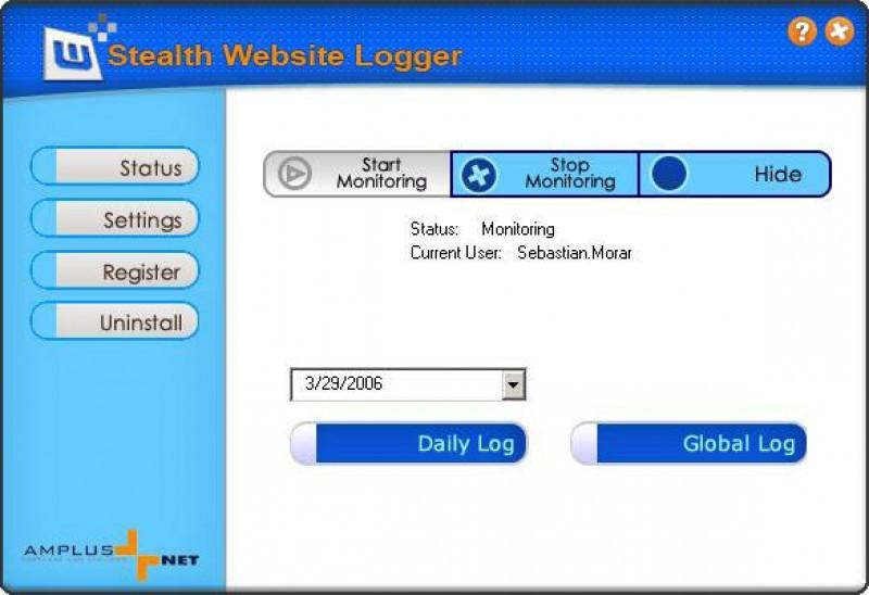 Pantallazo Stealth Website Logger
