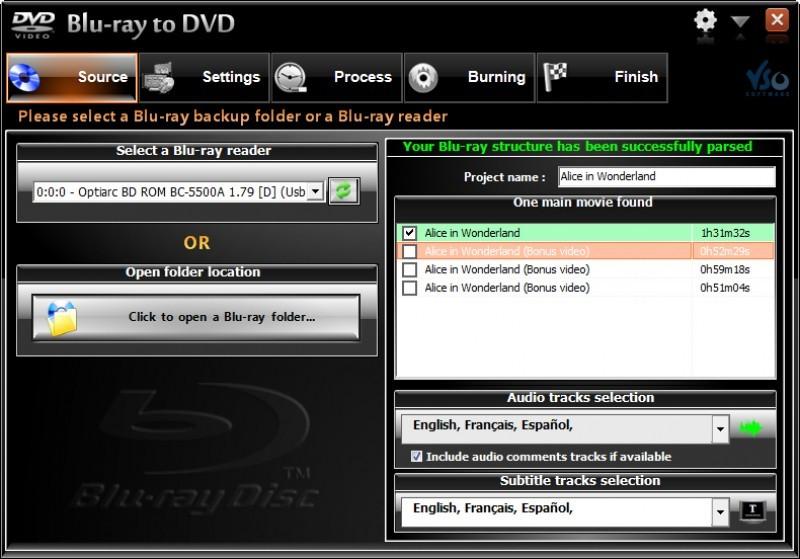 Pantallazo VSO Blu-ray to DVD