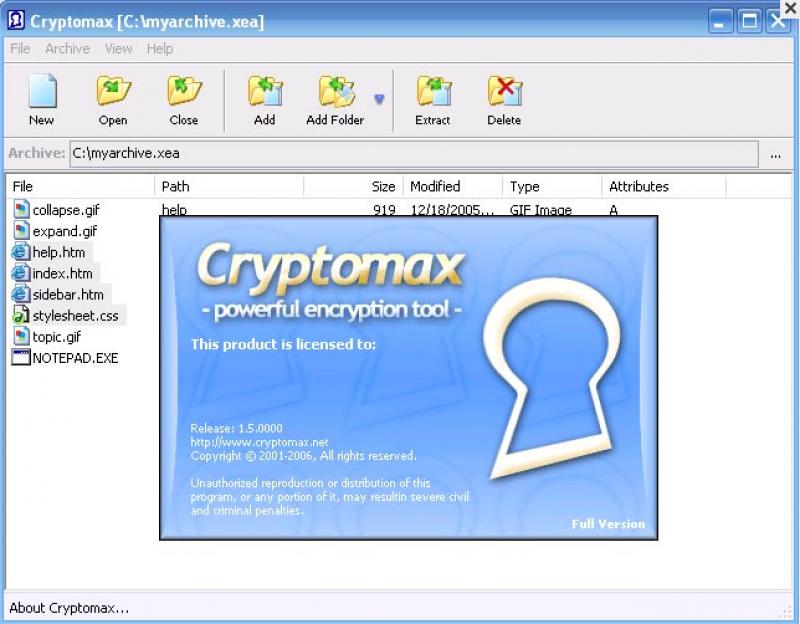 Pantallazo Cryptomax