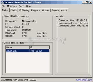 Pantallazo Internet Remote Control