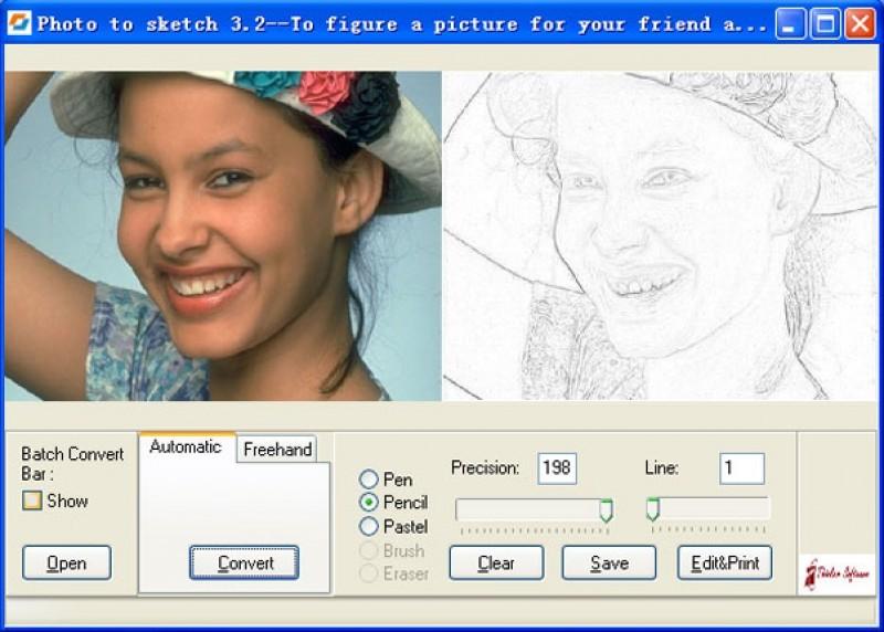 Pantallazo Photo to Sketch Professional