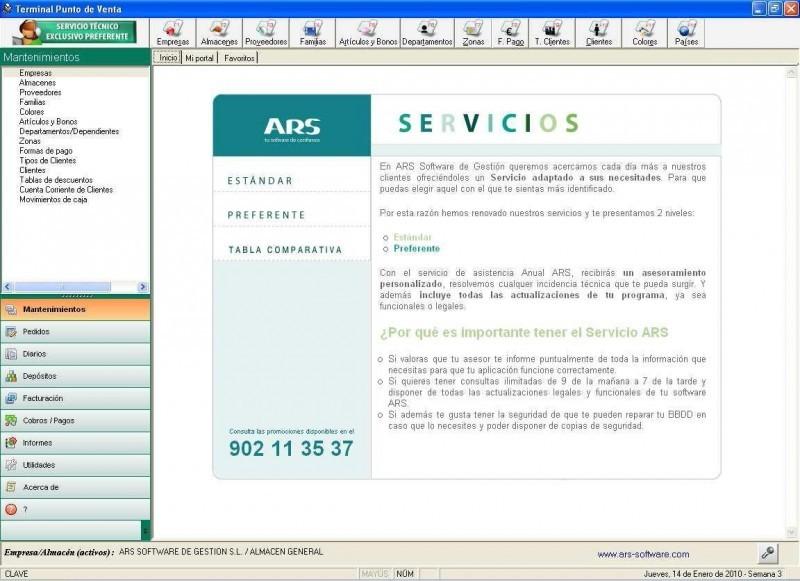 Pantallazo ARS TPV Gigant