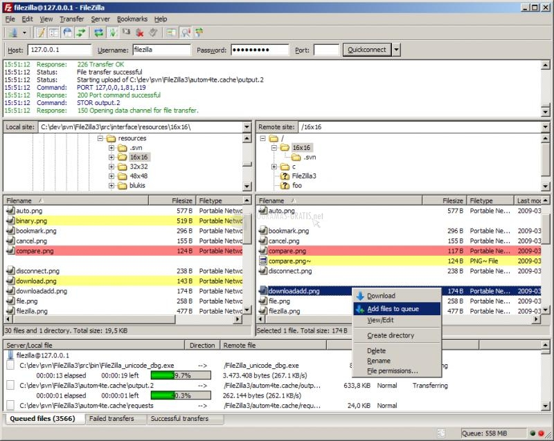 Pantallazo FileZilla Server