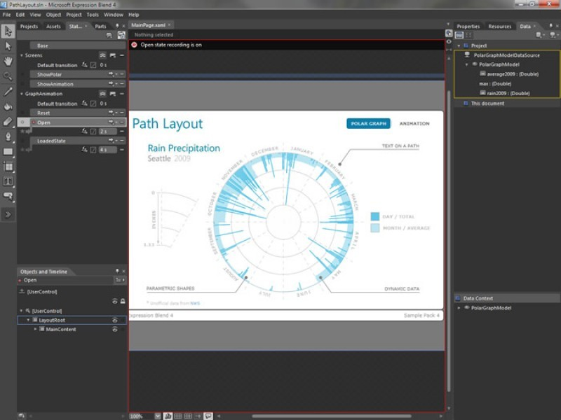 Pantallazo Microsoft Expression Studio