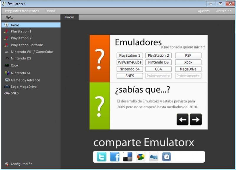 Pantallazo Emulatorx