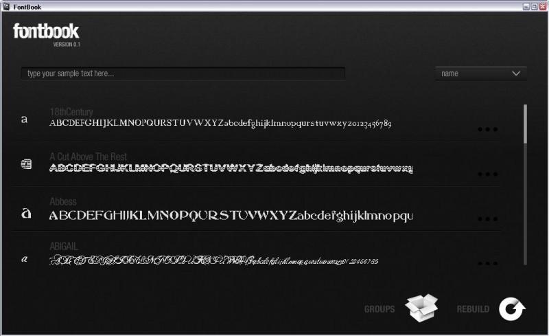 Pantallazo FontBook