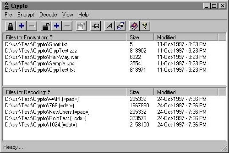 Pantallazo Crypto 2000