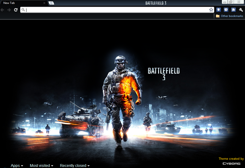 Pantallazo Battlefield 3 Theme